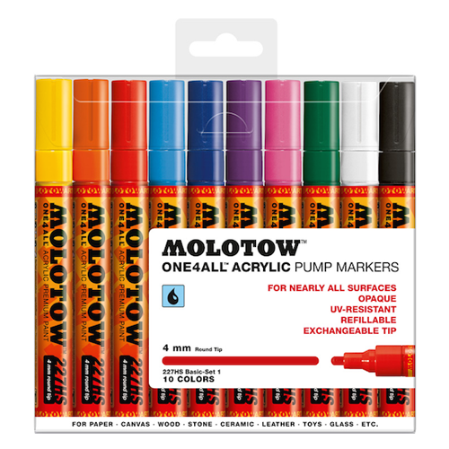 Molotow One4All Markers 4mm Basic-set1