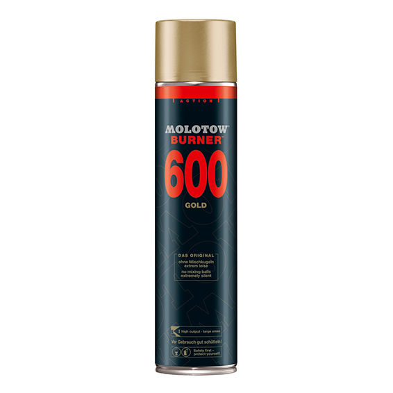Molotow Burner 600ml Goud