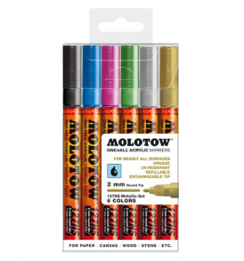 Molotow One4All Markers 4mm Metallic-set