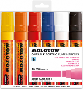 Molotow One4All Markers 15mm Basic-set1