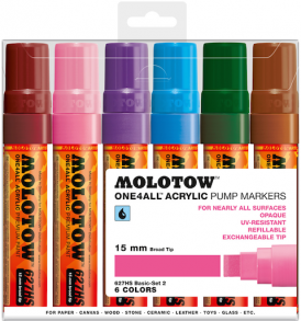 Molotow One4All Markers 15mm Basic-set2