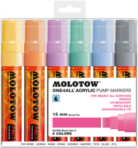 Molotow One4All Markers 15mm Pastel-set