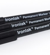 Ironlak Permanent Markers 1mm Black
