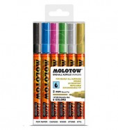 Molotow One4All Markers 2mm Metallic-set