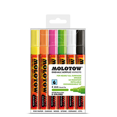 Molotow One4All Markers 4mm Neon-set