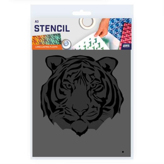 Tijger stencil, dieren sjabloon