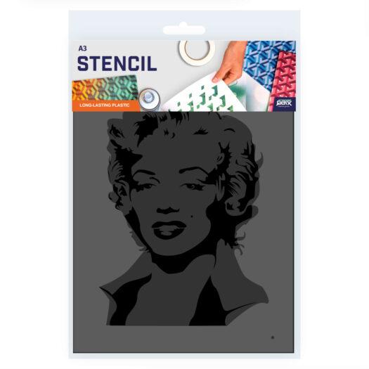 Marilyn Monroe stencil, idool sjabloon