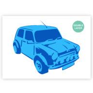 Mini Cooper stencil, auto sjabloon