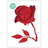 Roos stencil, bloemen sjabloon