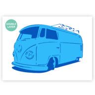 Volkswagen hippie bus stencil, auto sjabloon