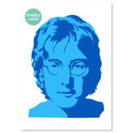 John Lennon stencil, idool sjabloon