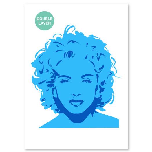 Madonna stencil, idool sjabloon