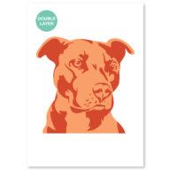 Honden stencil, dieren sjabloon