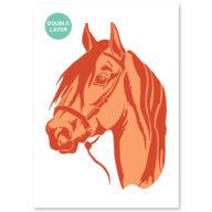 Paard stencil, dieren sjabloon