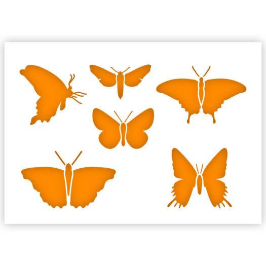 Vlinder sjabloon insecten stencil