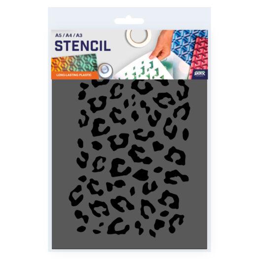 Luipaard patroon sjabloon stencil
