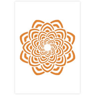 Mandala sjabloon stencil voor graffiti