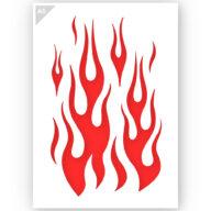 Vlammen stencil sjabloon