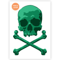 Pirate Skull stencil, piraat doodshoofd sjabloon
