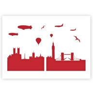 London Skyline stencil sjabloon
