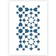 Tegel patroon sjabloon stencil