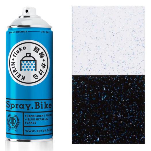 Spray.Bike Keiran spray paint spuitfles blauw kleur flake collection 400ml