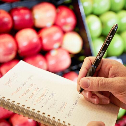 sharpie gel pen sfeerbeeld boodschappenlijst