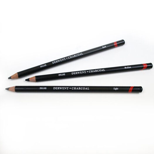 Derwent houtskool potloden light medium en dark voor houtskool tekenen en schetsen