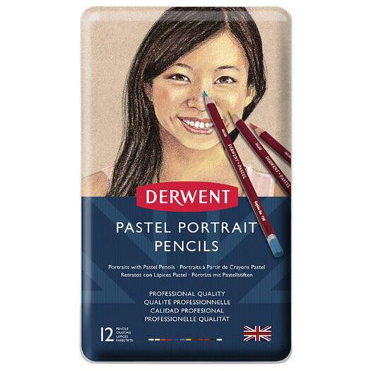 Derwent potloden set pastel potloden van 12 pastelkleuren potloden huidskleur