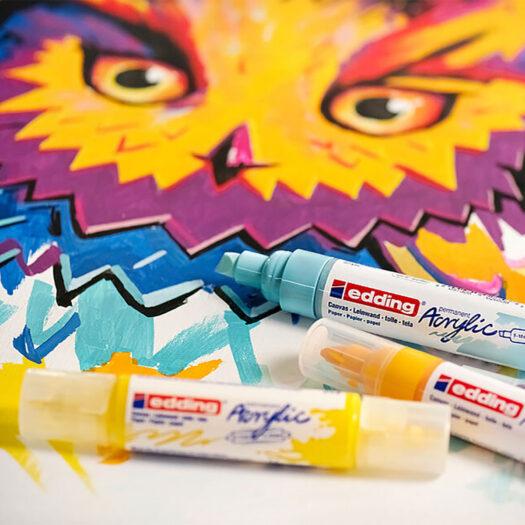 edding 5400 Acrylic 3D Double Liner acrylmarker verfstift