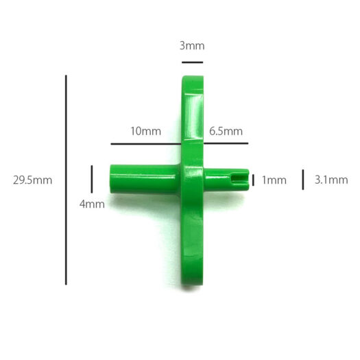 Fadebomb green male adapter voor graffiti spuitbussen